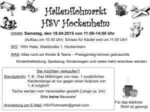Kinderflohmarkt Flyer 18.04.2015